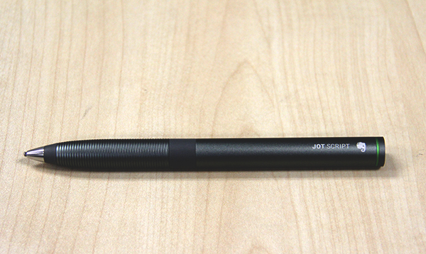 In the hands, the Adonit Jot Script Evernote Edition stylus feels like a high-end pen with its nicely finished aluminum barrel.