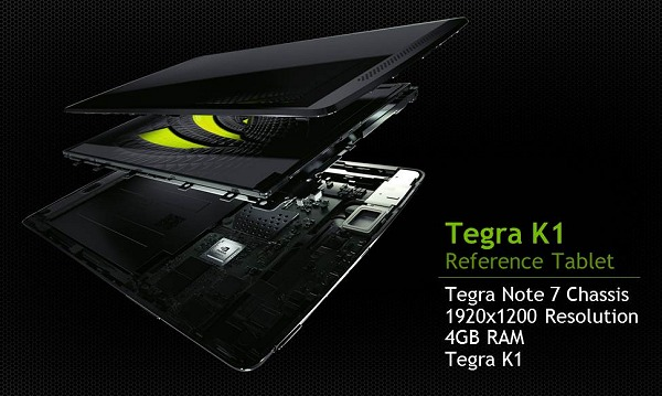 A Tegra K1 reference tablet with its new specs on the same Tegra Note 7 chassis.