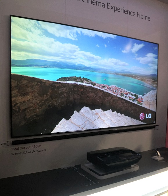 100 Inch Laser Tv From Lg Brings Space Saving Home Theatre