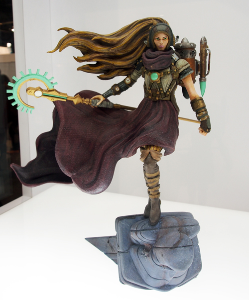This figurine was made with a Makerbot 3D Printer and then painted!