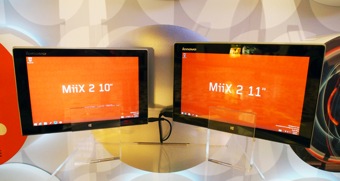 The Miix 2 is available in both 10.1 and 11.6-inch form factors.