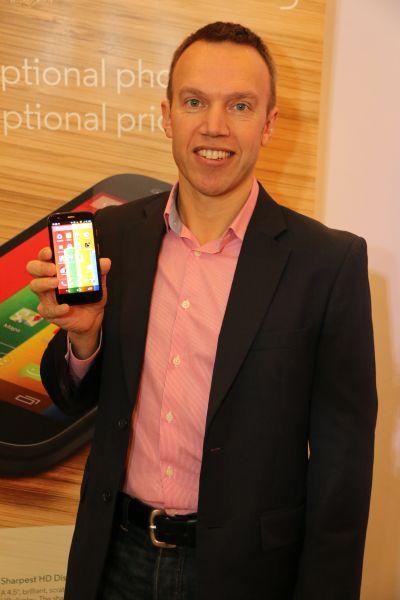 Marcus Frost, Senior Marketing Director of Motorola Mobility.
