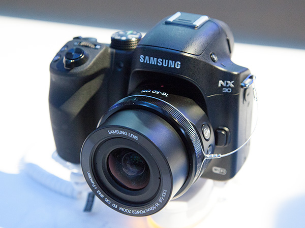The Samsung NX30 interchangeable lens camera.