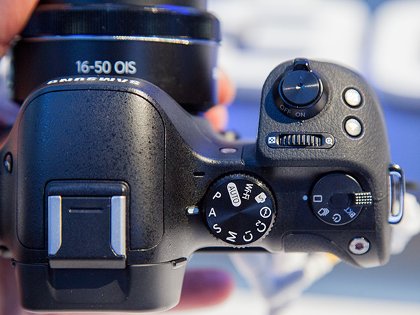 The NX30 now features two new custom modes on the mode dial and an entirely new drive dial.