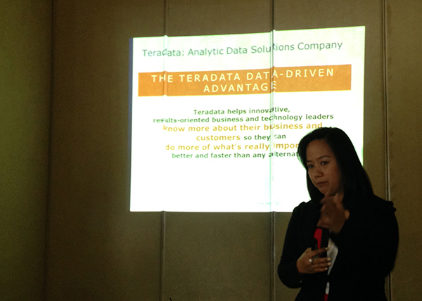 """""""The Philippines is an important market for Teradata. We have a number of significant telecommunications customers and we are well-positioned in the banking sectors,"""" said Ella Mae, new Country Manager of Teradata Philippines."""