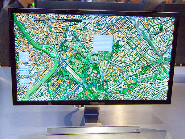 The 28-inch Samsung UD590 UHD monitor.
