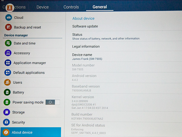 The new Galaxy NotePRO and TabPRO tablets come with Android version 4.4.2 (KitKat).