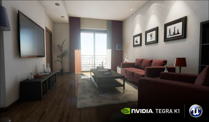 As much as this screen shot seems like a pre-rendered image, it's actually a screen capture from a demo using the Unreal Engine 4 game engine that can function in real time on the Tegra K1 processor.