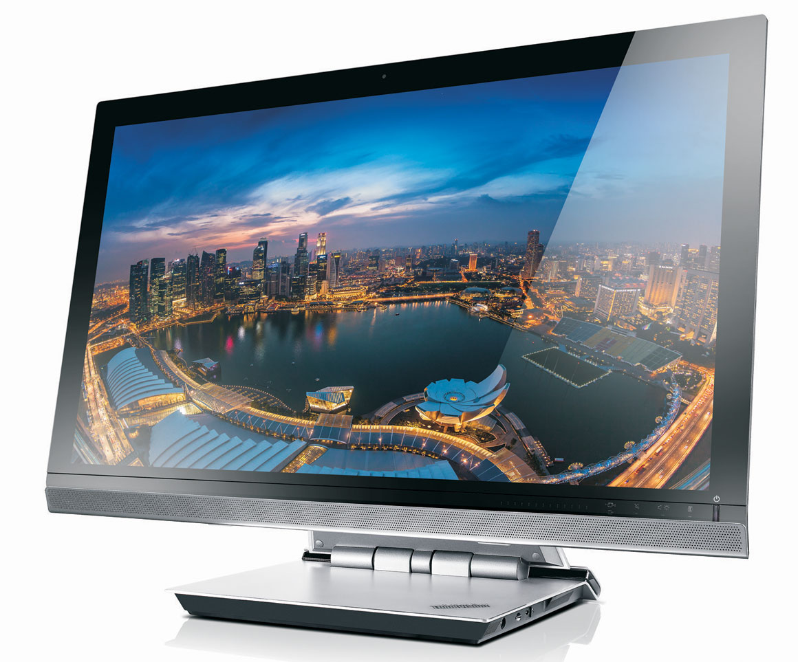 The ThinkVision 28 is an Android 4.3-based, 28-inch 4K (3840 x 2160 pixels resolution) entertainment center, with 10-point multi-touch. It also doubles up as a Full HD monitor. (Image Source: Lenovo)