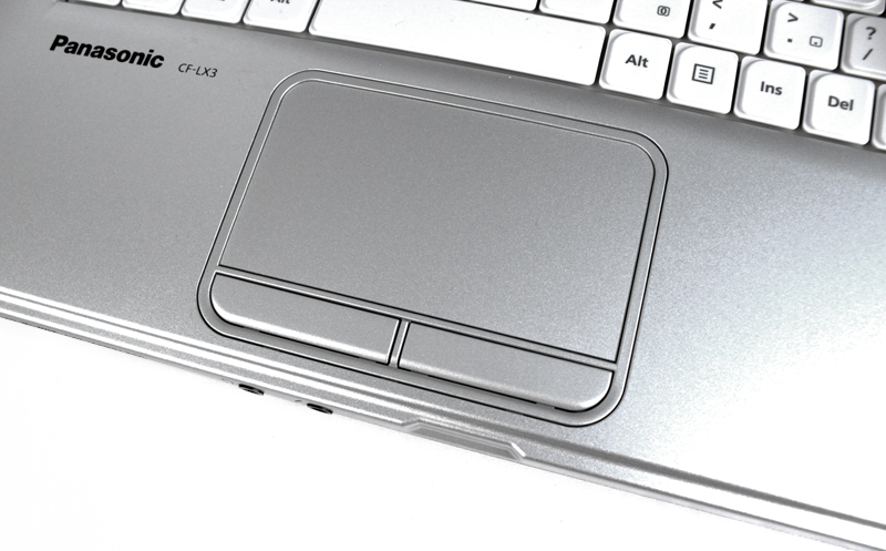 The CF-LX3 has a standard trackpad with dedicated left and right click buttons.