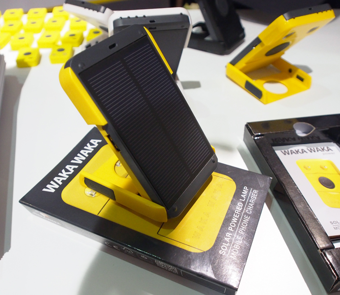 The Wakawaka is a portable solar powered battery charger that also has a built-in solar torch!