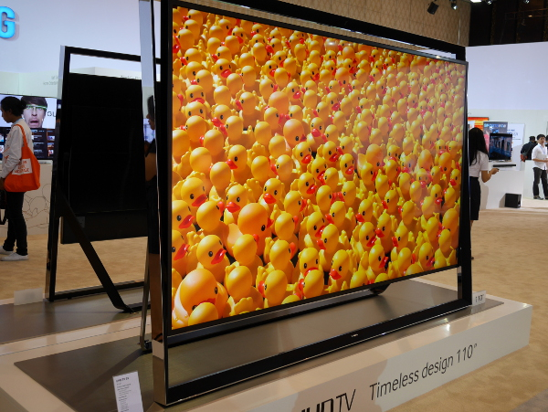Also on display was the Samsung huge 110-inch Samsung S9 UHD TV.
