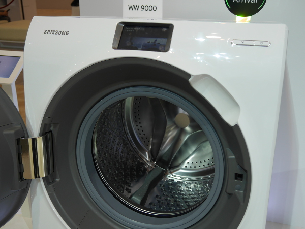 Unlike conventional washing machines, the WW900 features a touch-screen control panel.
