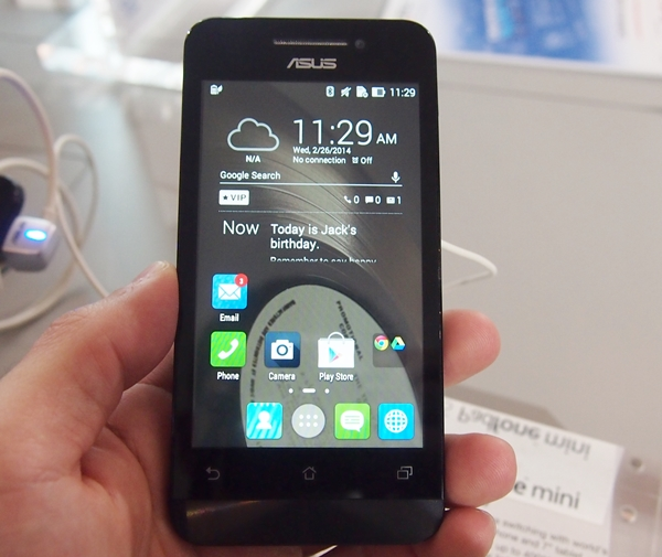 The PadFone mini is a 4-inch smartphone which can dock into and power a 7-inch docking station.
