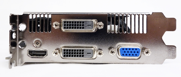 There are two dual-link DVI-D connectors. The other options include a HDMI port and a D-Sub one.