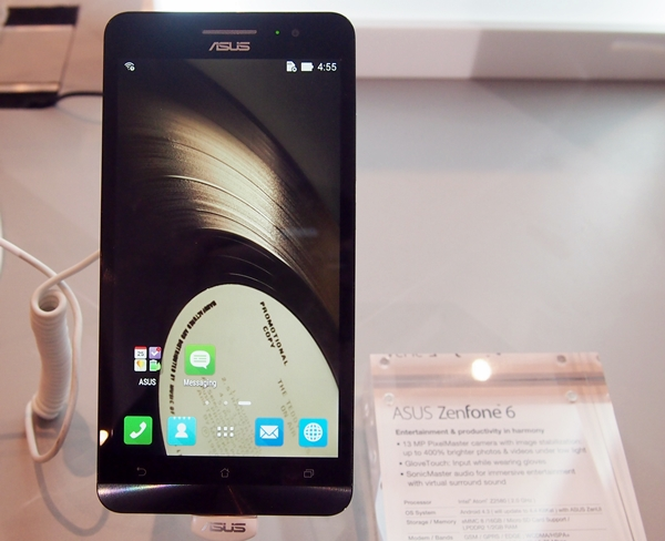 The ZenFone 6 is ASUS's first phablet device.