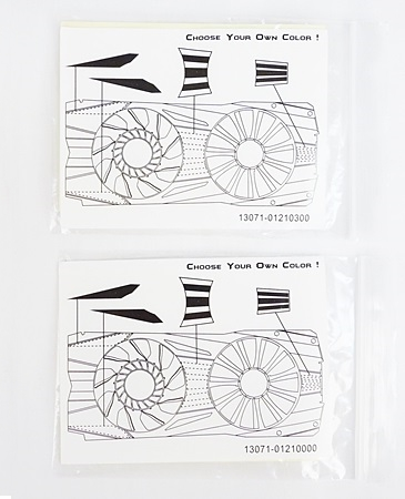 The instructions on how to use the decals are found at the rear.