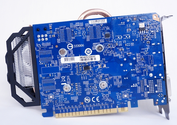 The PCB of the Gigabyte card measures 144mm in length, and has its signature light blue hue.
