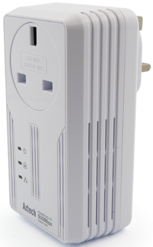 Aztech HL119EP SmartLink HomePlug AV2 600Mbps with Pass Through