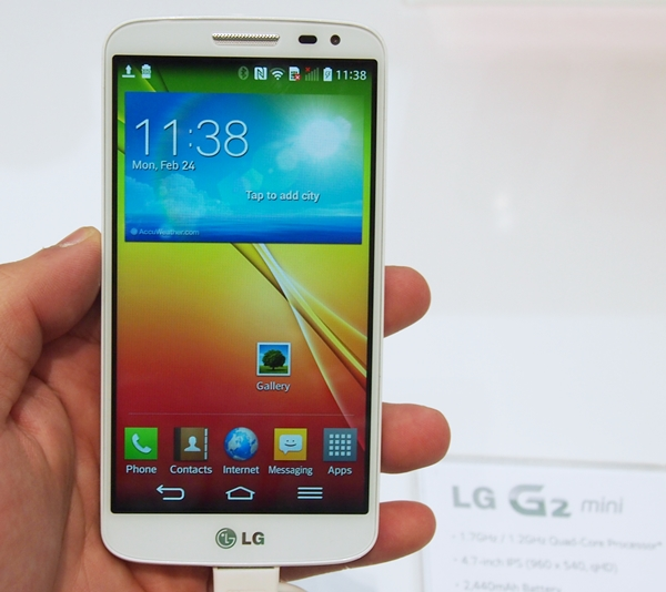 """The LG G2 mini isn't """"mini"""" compared to the rest of its counterparts; it has a relatively big display at 4.7-inches."""
