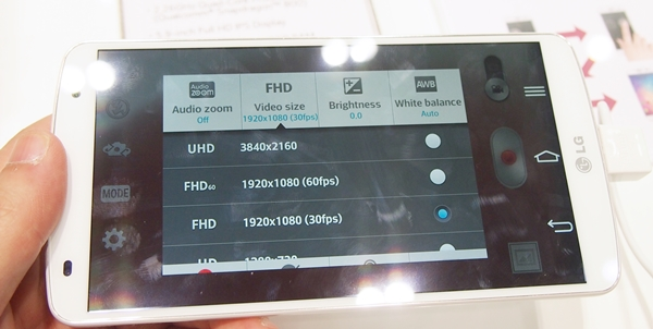 The G Pro 2 is one of the few smartphones in the market that can record videos in Ultra HD.