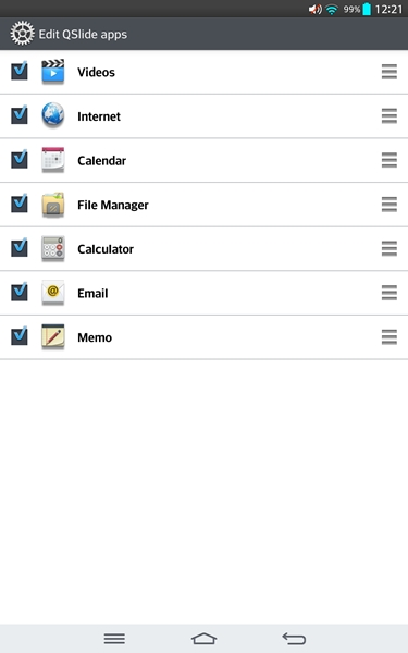 By default, there are only 7 apps supported: videos, Internet, calendar, file manager, calculator, email and memo.