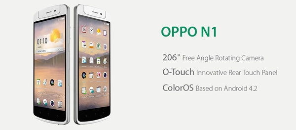 The 5.9-inch Oppo N1 will have a smaller sibling, the 5-inch N1 Mini which is coming in May or June. <br> Image source: Oppo Singapore