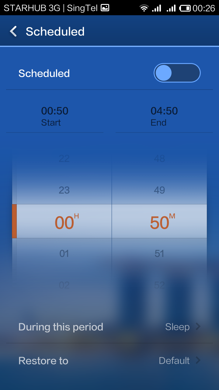 You can schedule the phone to sleep when you do, and wake up earlier than you to fetch new emails.