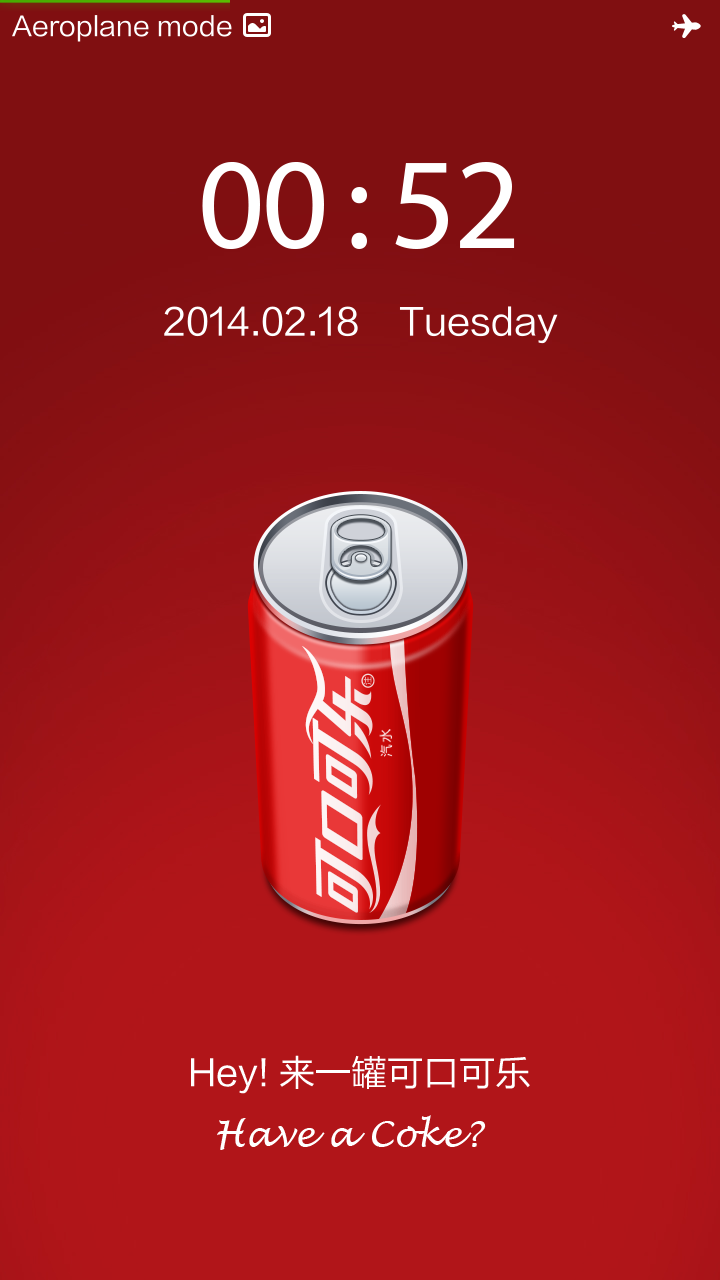 Xiaomi Redmi with the Coca Cola theme.