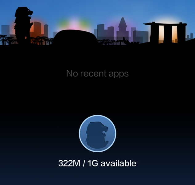The Singapore special edition theme, which only requires 7.59MB of storage space, consumes less system resources to run.