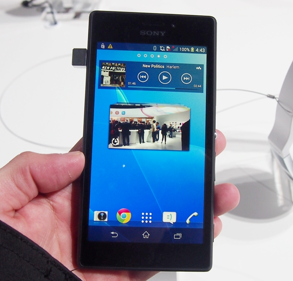 The Sony Xperia M2 comes with a 4.8-inch display.