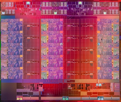 The Intel Xeon Processor E7 v2 product die. (Image Source: Intel)