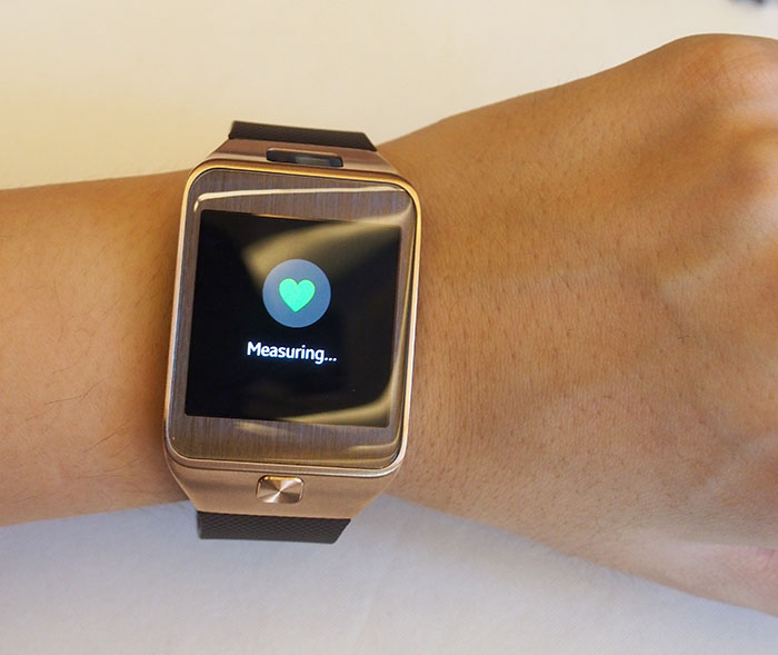 A new heart rate sensor is built into the rear of both watches. It takes just a few seconds to get a reading...