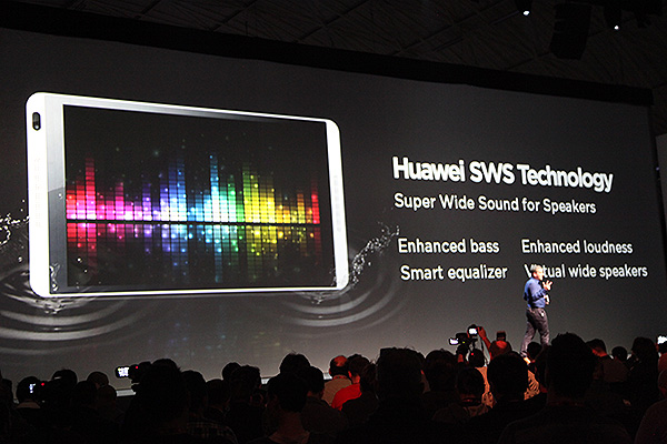 Huawei explains how their SWS audio technology can enhance your entertainment experience on the MediaPad M1.