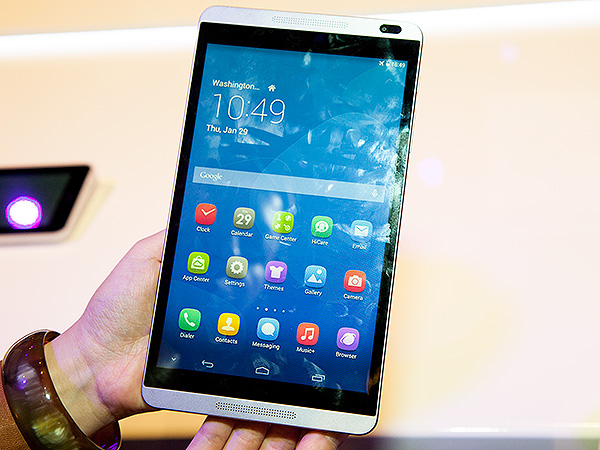 The new Huawei MediaPad M1. Doesn't this design remind you of a certain smartphone?