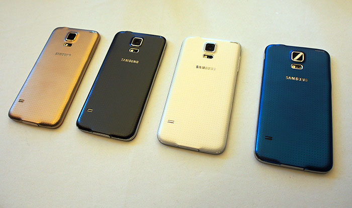 All four S5 launch colors.