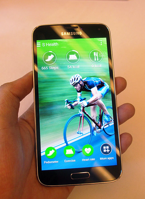 The S5 focuses on features people will actually use - like the S-Health 3.0 fitness app.