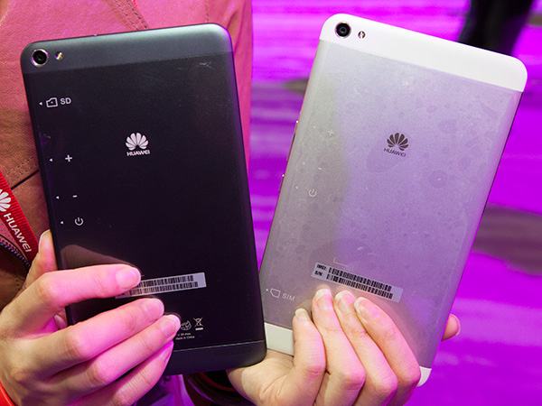 Two of the four colors available on the MediaPad X1.