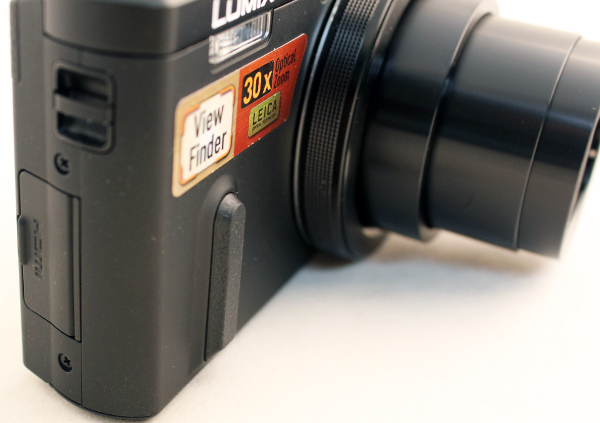 There's a thin strip of rubber that helps you to maintain your grip on the camera.
