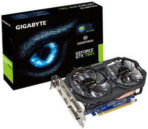 Gigabyte GeForce GTX 750 Ti 2GB Overclock Edition (GV-N75TOC-2GI)