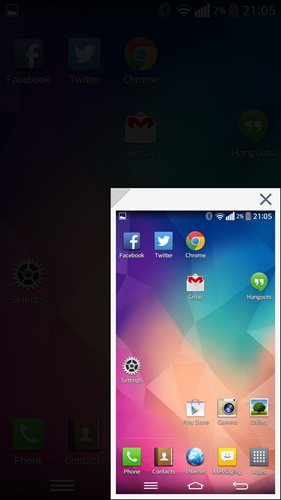 This is the smallest Mini view (3.7-inch) you can use on the LG G Pro 2.
