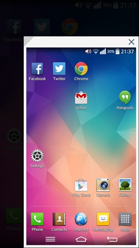 """This is the """"biggest"""" Mini view (4.7-inch) you can use on the LG G Pro 2."""