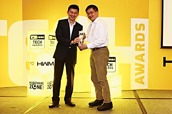 NVIDIA won two awards: Readers' Choice for Best Gaming Graphics Processor and Editor's Choice for Best Graphics Chip (GeForce GTX 780 Ti). Here's Mr. Edward Lim from Ciza accepting the awards on behalf of NVIDIA.