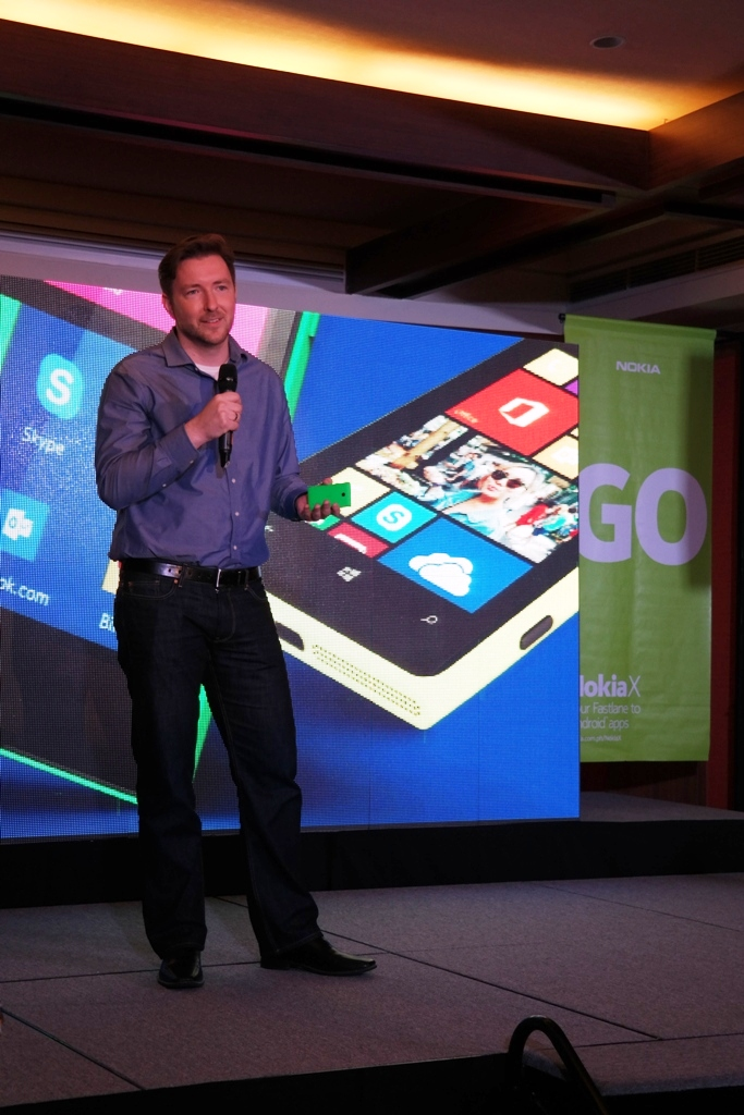 Karel Holub, General Manager of Nokia Philippines, officially introduced the Nokia X in the Philippines.