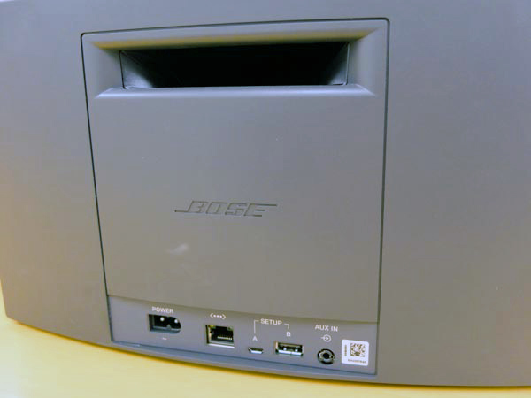 The SoundTouch 20 and SoundTouch 30 both have the same number of ports - an Ethernet port, two USB ports (for setup purposes), as well as an Aux-in.