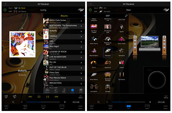Yamaha's AV Controller app also works on iOS and Android tablets. (Image source: iTunes App Store.)