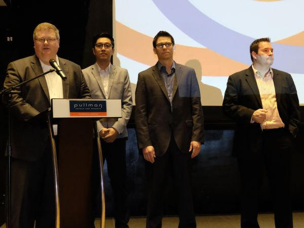 From L-R: From Zimbra, its Field Operations President, Bret Rhymes; ASEAN & GCH Sales Director, Marcus Teo; Chief Technology Officer, Rob Howard; and Strategic Alliances Director, Joe Allen.