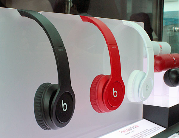 The Beats Solo HDs get a slight facelift too, with what seems to be more of a sandblasted finish.