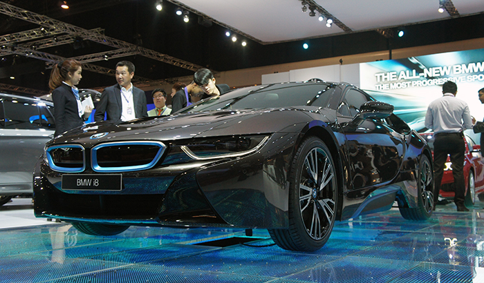 Over at rivals BMW, the new i8 Concept was attracting all the attention.