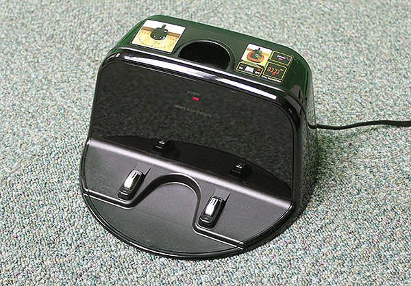 The Hom-Bot Square will automatically find its way back to the charging station when it is low on power.